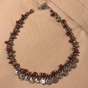 Uno de 50 Red and Silver Necklace